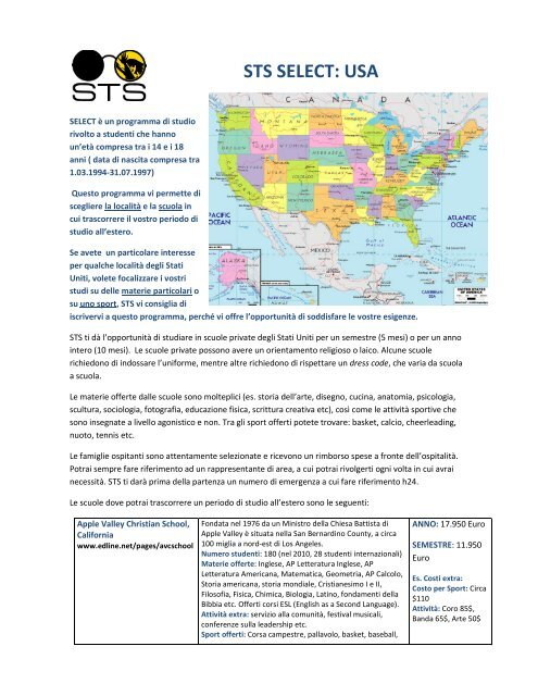 STS SELECT: USA