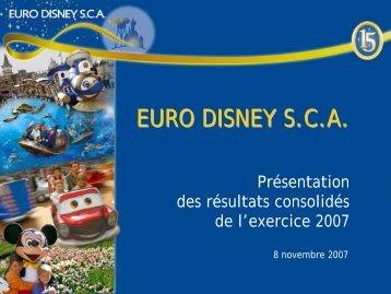 En millions d 'euros - Euro Disney SCA