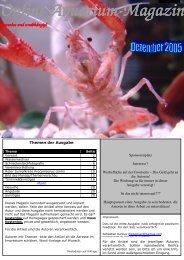 Online Aquarium-Magazin kostenlos und unabhängig!