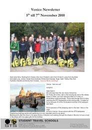 Venice Newsletter 5th till 7th November 2010 - STS