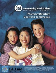 Pharmacy Directory Directorio de farmacias - Los Angeles County ...