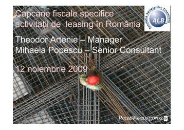 Capcane fiscale specifice activitatii de leasing din Romania - ALB