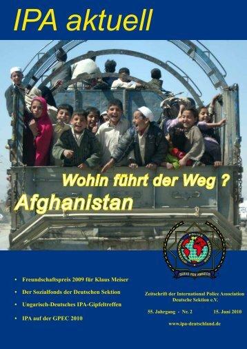 Wohin führt der Weg ? Afghanistan - International Police Association