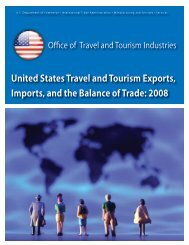 United States Travel and Tourism Exports, Imports - Office of Travel ...