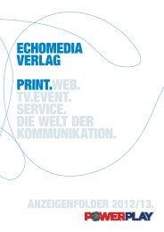 Echomedia Verlag print.web. TV.EVENT. SERVICE. DIE welt ...