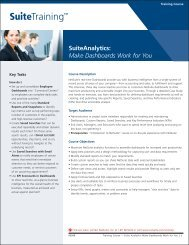 SuiteAnalytics: Make Dashboards Work for You - NetSuite