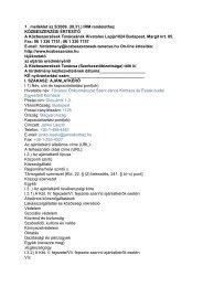 tájékoztató az eljárás eredményéről (pdf) - Szent János Kórház