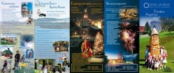 Familien- Angebote 2012 - Hotel am Bühl - Das blaue Wunder