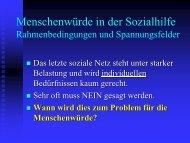 Menschenwürde in der Sozialhilfe - Berner Konferenz für Sozialhilfe ...