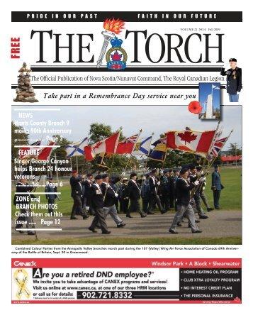 Fall 2009 - Royal Canadian Legion