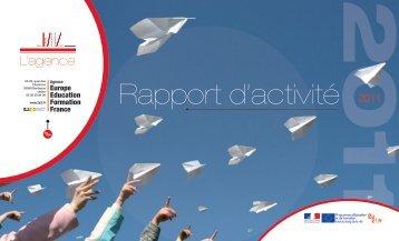 Rapport d'activité 2011 - Agence Europe-Education-Formation France