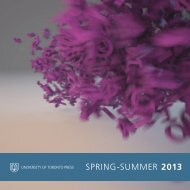 spring-summer 2013 - University of Toronto Press Publishing