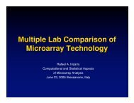 Multiple Lab Comparison of Microarray Technology - Computational ...