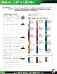 graphic films & supplies - Midwest Sign & Screen Printing Supply
