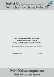 Does Qualification Drive Innovation? - Institut für ...