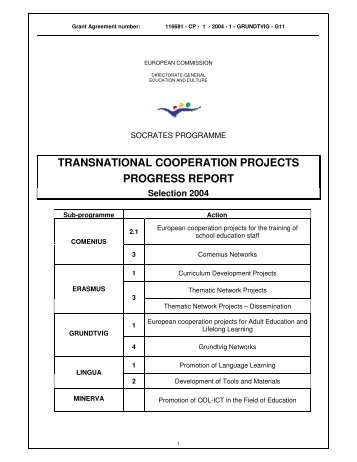 transnational cooperation projects progress report - RURALpro ...