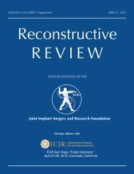 to download PDF - Joint Implant Surgery & Research Foundation