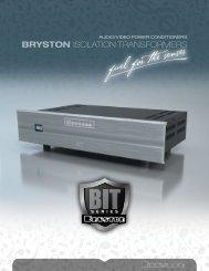 Download Brochure (PDF) - Bryston