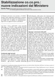 Stabilizzazione co.co.pro.: nuove indicazioni dal ... - UILA Potenza