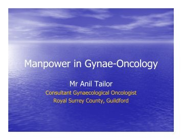 Subspecilaity training/Manpower update (Anil Tailor)