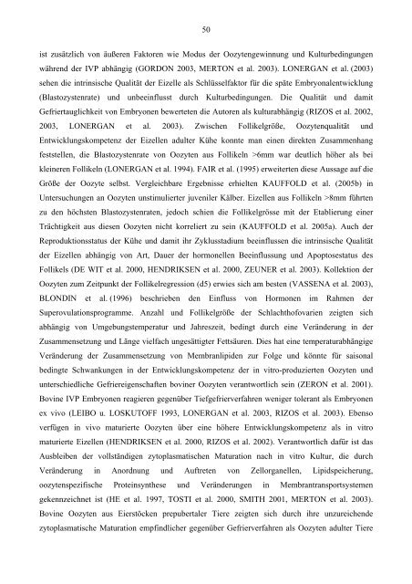 Untersuchungen zur Vitrifikation von immaturen und In-vitro ...
