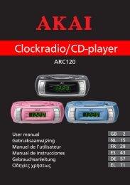 Clockradio/CD-player