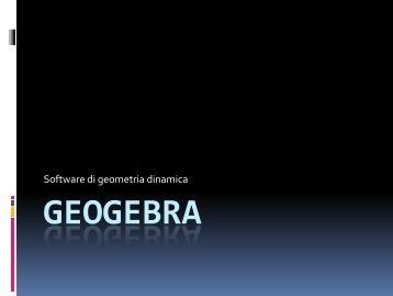 M. Lagomarsini - Matematica con GeoGebra