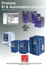 Prisliste El & Automation 2010/2011
