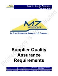 Supplier Quality Assurance Requirements - Elbit Systems of America