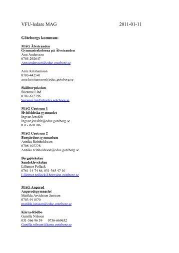VFU-ledare MAG 2011-01-11 - Utbildning, Göteborgs universitet
