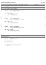 Tribunal de Commerce de Verviers Page 1/25 --- FEUILLE D ...