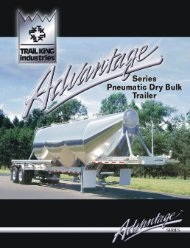 Page 1 Page 2 Aluminum 2- Pneumatic Dry Bulk Trailer Trail King ...
