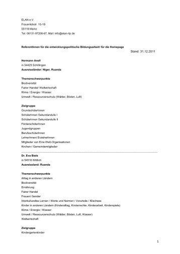 ReferentInnenliste / ELAN RK-Projekt, nicht für Homepage