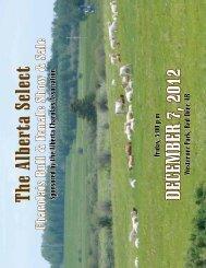 The Alberta Select DECEMBER 7, 2012 - Transcon Livestock ...