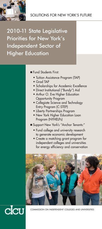2010-11 State Legislative Priorities for New York's ... - cIcu