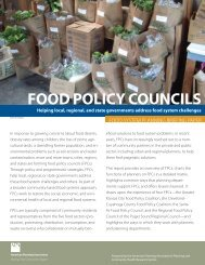 FOOD POLICY COUNCILS - American Planning Association