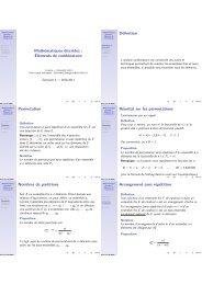Mathématiques discr`etes : Éléments de combinatoire Définition ...