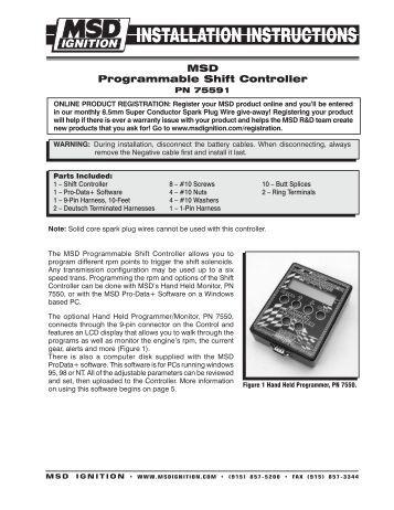 msd pro mag timing control msd pro mag com msd programmable shift controller msd pro mag com
