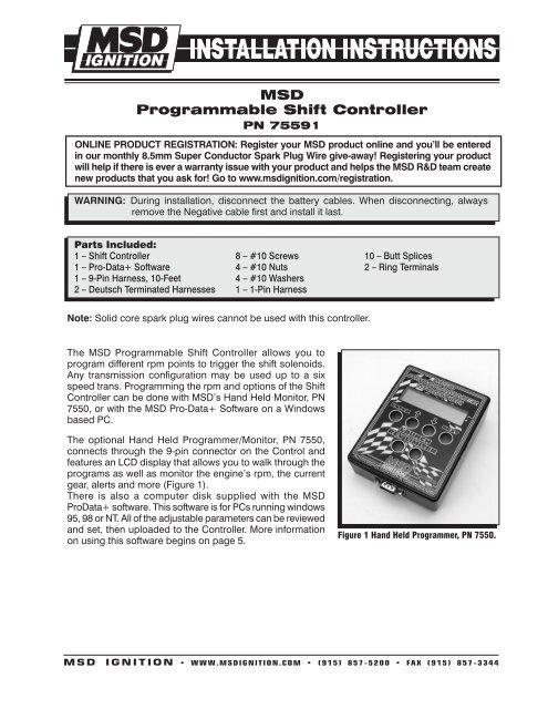 Msd Programmer
