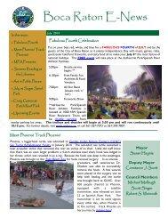 Boca Raton E-News - City of Boca Raton