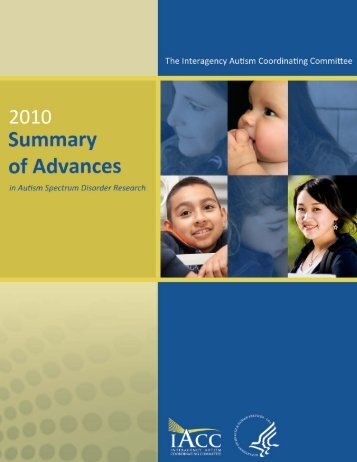 the 2010 iacc summary of advances in autism spectrum disorder ...