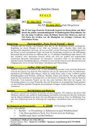 Ausflug Bahnfrei Damm PFALZ DO 30. Mai 2013 - KSC Bahnfrei ...