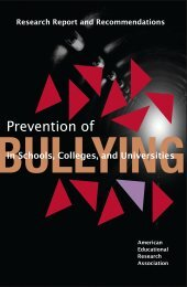 Prevention of Bullying in Schools, Colleges, and ... - Boston College