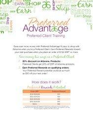 Preferred Rewards Potential Preferred Client Training - Arbonne