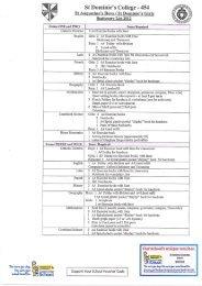 St Dominics College Wanganui School Stationery Lists - Warehouse ...