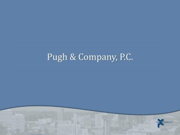 Pugh & Company, P.C. - UT Conferences