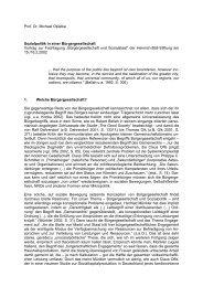 Prof. Dr. Michael Opielka Sozialpolitik in einer Bürgergesellschaft ...