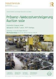 Katalog Versteigerung Eralmetall - Industrie Rat