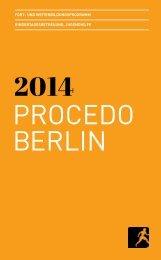 Jahresprogramm 2014 als PDF - PROCEDO BERLIN