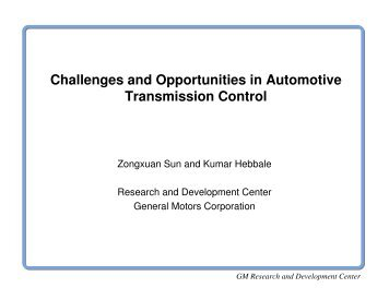 Challenges and Opportunities in Automotive Transmission ... - CSET